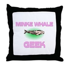 Minke Whale Geek Throw Pillow