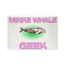 Minke Whale Geek Rectangle Magnet (10 pack)