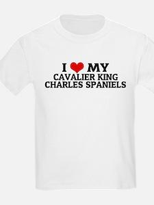 I Love My Cavalier King Charl Kids T-Shirt