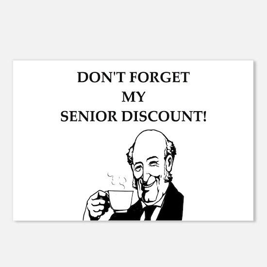 retiree senior citizen Postcards (Package of 8)