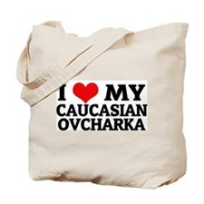 I Love My Caucasian Ovcharka Tote Bag