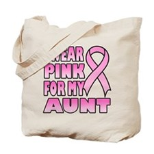 Aunt Pink Ribbon Tote Bag