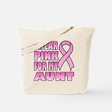 Aunt Pink Ribbon Tote Bag