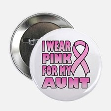 """Aunt Pink Ribbon 2.25"""" Button"""