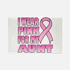 Aunt Pink Ribbon Rectangle Magnet (10 pack)