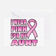 Aunt Pink Ribbon Greeting Card