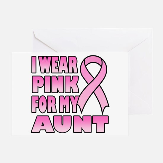 Aunt Pink Ribbon Greeting Card