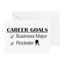 Business Major Career Goals Rockstar Greeting Card
