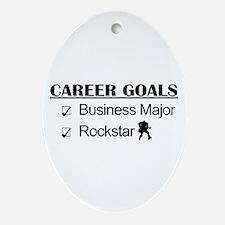 Business Major Career Goals Rockstar Ornament (Ova