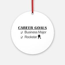 Business Major Career Goals Rockstar Ornament (Rou