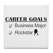 Business Major Career Goals Rockstar Tile Coaster