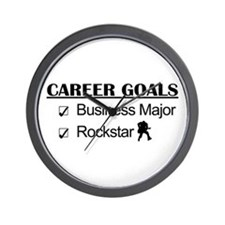 Business Major Career Goals Rockstar Wall Clock