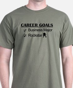 Business Major Career Goals Rockstar T-Shirt