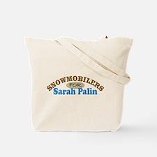 Snowmobilers For Palin Tote Bag