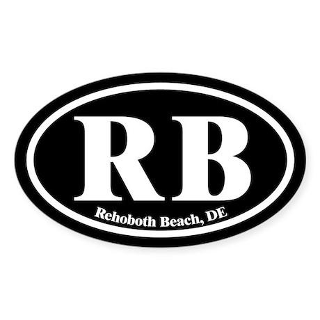 Rehoboth Beach RB Euro Oval Oval Sticker