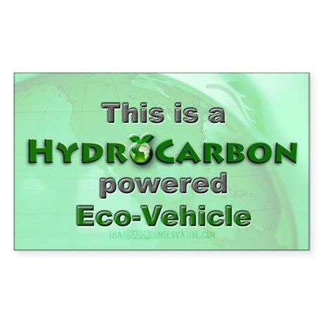 HydroCarbon Eco-Vehicle Rectangle Sticker