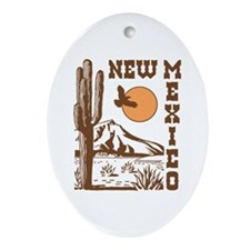 New Mexico Oval Ornament