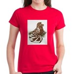 English Trumpeter Red Splash Women's Dark T-Shirt