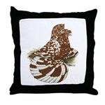 English Trumpeter Red Splash Throw Pillow
