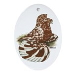 English Trumpeter Red Splash Oval Ornament