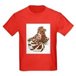English Trumpeter Red Splash Kids Dark T-Shirt