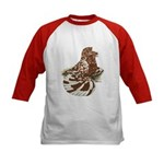 English Trumpeter Red Splash Kids Baseball Jersey