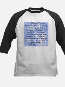 """Obama's Mantra"" Kids Baseball Jersey"