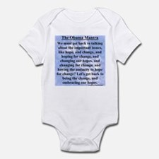 """Obama's Mantra"" Infant Bodysuit"