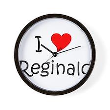 Unique I love reginald Wall Clock