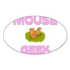 Mouse Geek Oval Decal