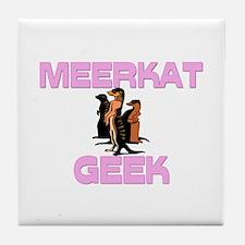 Meerkat Geek Tile Coaster