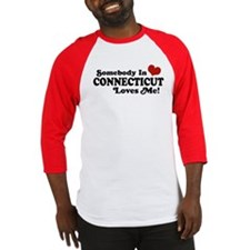 Somebody in Connecticut Loves Me Baseball Jersey
