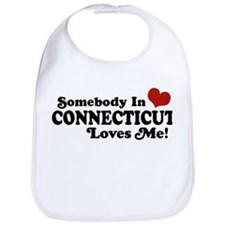 Somebody in Connecticut Loves Me Bib
