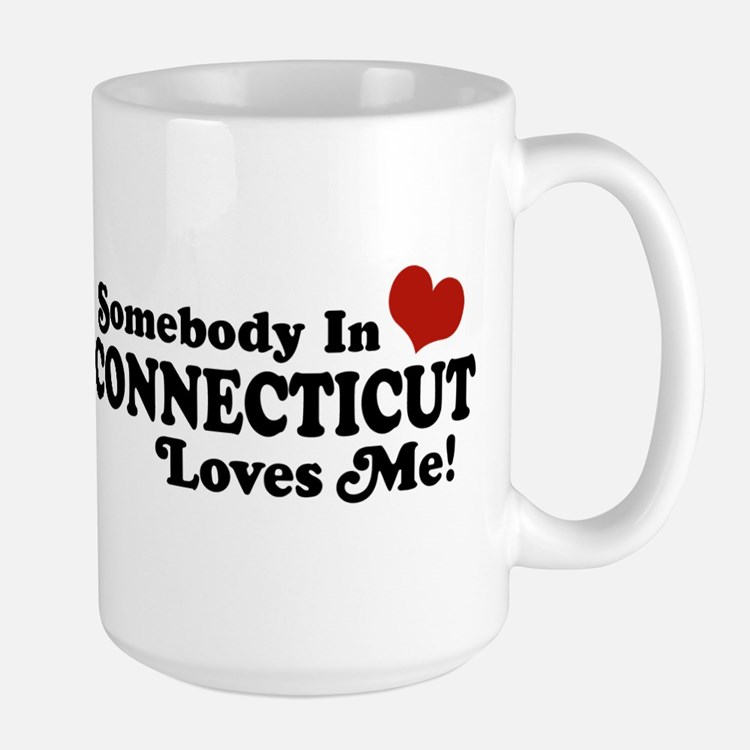Somebody in Connecticut Loves Me Large Mug