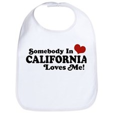 Somebody in California Loves Me Bib