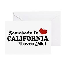 Somebody in California Loves Me Greeting Cards (Pk