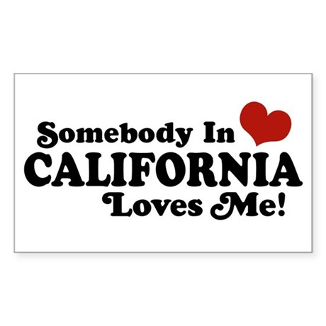 Somebody in California Loves Me Sticker (Rectangle
