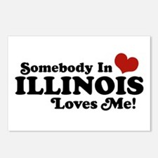 Somebody in Illinois Loves Me Postcards (Package o