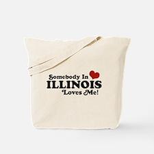 Somebody in Illinois Loves Me Tote Bag