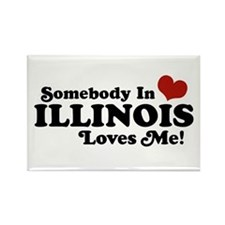 Somebody in Illinois Loves Me Rectangle Magnet
