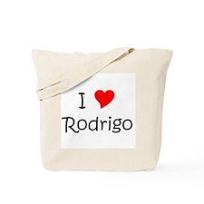 Unique I love rodrigo Tote Bag