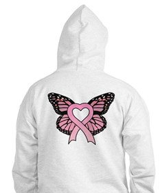 Pink Ribbon Butterfly Hoodie