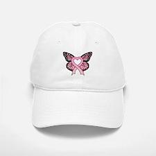 Pink Ribbon Butterfly Baseball Baseball Cap