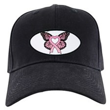 Pink Ribbon Butterfly Baseball Hat