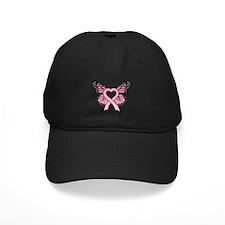 Pink Ribbon Butterfly Baseball Hat