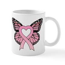 Pink Ribbon Butterfly Mug
