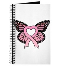 Pink Ribbon Butterfly Journal