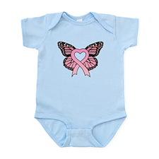 Pink Ribbon Butterfly Infant Bodysuit