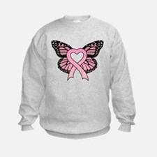 Pink Ribbon Butterfly Sweatshirt