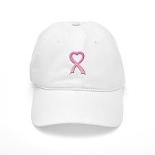 Heart Pink Ribbon Baseball Cap